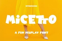 Web Font Micetto - Fun Display Font Product Image 1