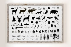 Forest Rustic Silhouettes clipart Product Image 2