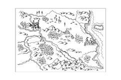 Map of Fantasy Land grunge Product Image 1