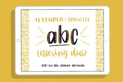 Textured & Smooth Lettering Duo Procreate Brushes Product Image 1