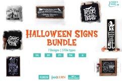 Halloween Signs Bundle SVG Cut File Product Image 1
