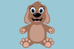 Cute Dog SVG Cut Files, PNG dog clipart, happy puppy face Product Image 5