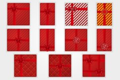 Bows, ribbons and gift boxes set. Product Image 2