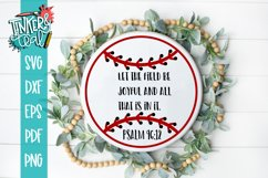 PSALM religious Baseball Softball Quote SVG DXF Product Image 1