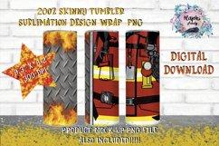 20oz| Yellow| Red Firemen Split| Sublimation Tumbler Wrap| Product Image 1