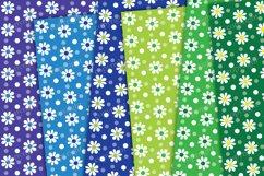 Daisy flower digital paper, rainbow backrounds Product Image 3