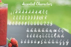 Strawberry Smoothie- A handlettered script font Product Image 3