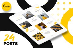 Black and yellow Instagram Puzzle Preset for Canva Product Image 6