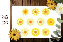 Sun SVG, Sun Silhouette SVG, Sun Clip Art, Sun Sublimation Product Image 4