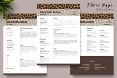 Animal Care Resume Template for Word & Pages Savannah James Product Image 4