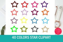 40 Colors Star Clipart Collection Product Image 1