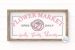 Flower Market SVG   Farmhouse Sign   DXF and More Product Image 1