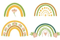 Rainbow clipart BEES and BOTANICALS Product Image 2
