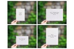 Invitation Mockup 4 sizes. Realistic PSD mockup Product Image 6