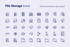 File Storage 40 Icons Product Image 1