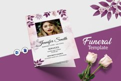 Floral Funeral Program MS Word & Photoshop Template Product Image 1