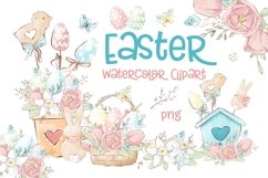 Easter Watercolor Clipart Product Image 1
