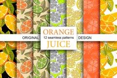 Orange juice patterns and frames Product Image 1