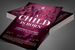 A Child is Born Church Flyer Template Product Image 2