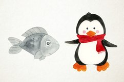 Watercolor Penguins Clipart, Penguins Clipart, Penguins PNG Product Image 4