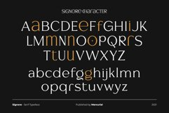 Signore - Serif Typeface Product Image 8