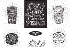 Set of Banners with coffee quotes. Product Image 6