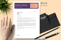 Creative Resume CV Template for Word & Pages Claire Allen Product Image 5