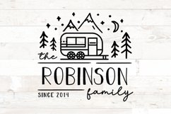 Family Name Sign RV Camper Camping Last Name Product Image 1