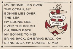 Sailors Diary Sans & Title Slab Tattoo Style Font Product Image 3