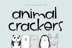 Animal Crackers - A Fun Handwritten Font Product Image 1