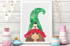 Christmas Clipart, Christmas Gnomes, Gnome Clipart Product Image 4