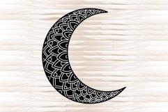 Moon mandala, mandala svg, zentangle svg Product Image 3