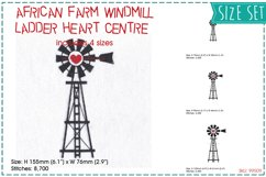Windmill Red Heart Middle Center Machine Embroidery File Product Image 1