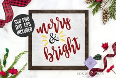 Merry and Bright SVG - Christmas Cutting File Product Image 3