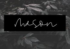 Mason - A Handwritten Signature Font Product Image 1