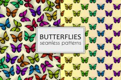 Set of colorful butterflies clipart Product Image 4