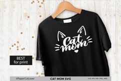 Cat Mom SVG Cat Mama SVG Cat Face SVG Cat mom with cat face Product Image 3