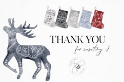Nordic Christmas Clip Art Dala Horse Swedish Design Product Image 5