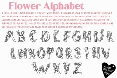 Flower Alphabet - vector and bitmap Product Image 2
