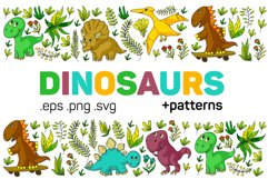 Dinosaur vector clipart. Baby animal for children. Product Image 1