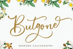 Butgone - Modern Calligraphy Font Product Image 1