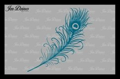 Peacock Feather SVG DXF EPS PNG Product Image 3
