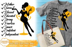 Black Woman with Words | Mothers Day SVG | Boss Lady Svg Product Image 1