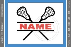 Lacrosse SVG, Lacrosse Personalize SVG, Lacrosse Split Name Product Image 1