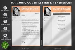 Modern CV with picture, Cover Letter and References Page Product Image 3