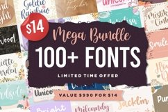 Mega Bundle 100 Plus Font | Limited Time Offer Product Image 1