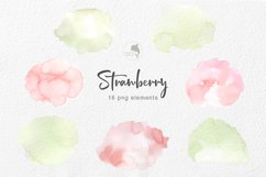 Strawberry watercolor clipart Product Image 3