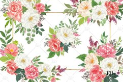 Watercolor Flowers clipart - Shantal Product Image 2