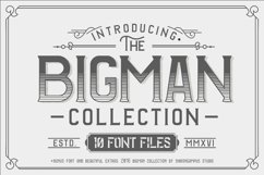 Web Font The BIGMAN Font Collection Product Image 1