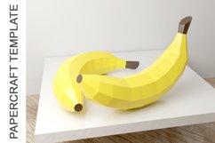 PDF Template of Banana fruit papercraft template /3d craft Product Image 3